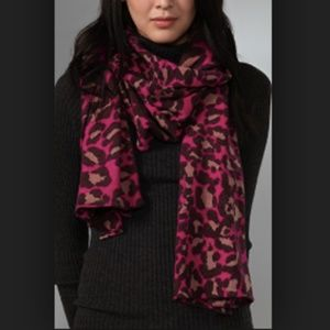 DVF Meghan Leopard Animal Print Wool Scarf
